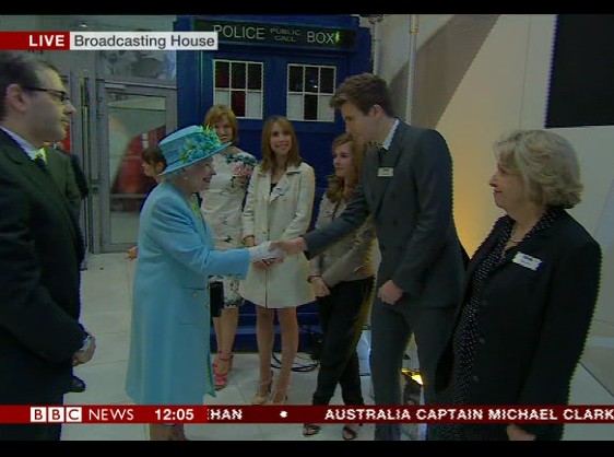 The actual Queen visits Radio 1!
