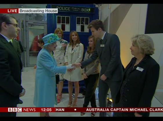 The actual Queen visits Radio 1!