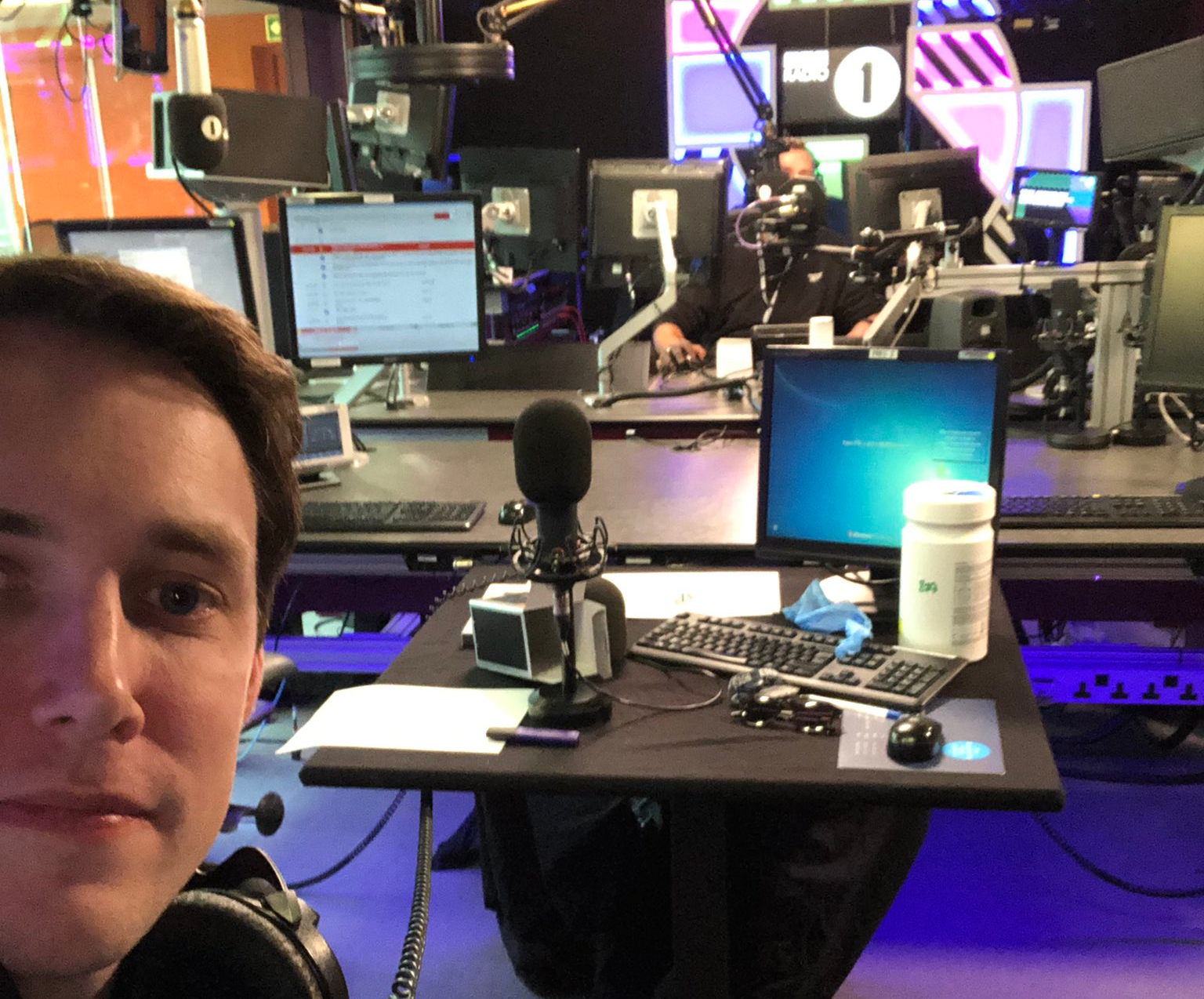 Co-presenters return to Radio 1 studios